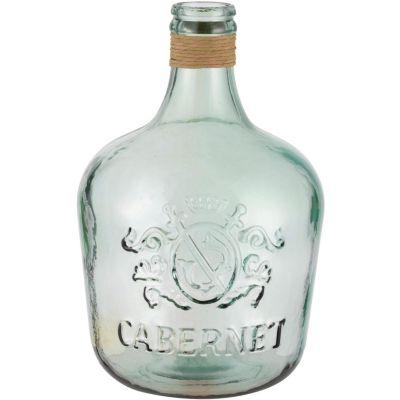 Botella Cabernet con Rafia 42cm 12L