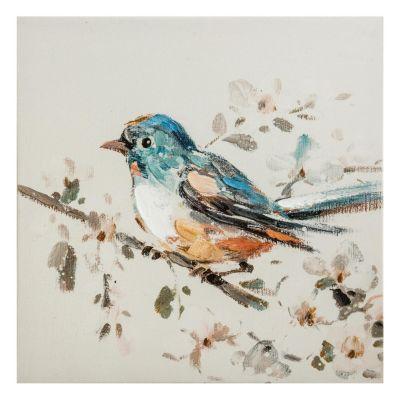 Canvas Pájaro Azul 30x30cm