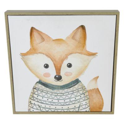Cuadro Canvas Fox Kid 32x32cm