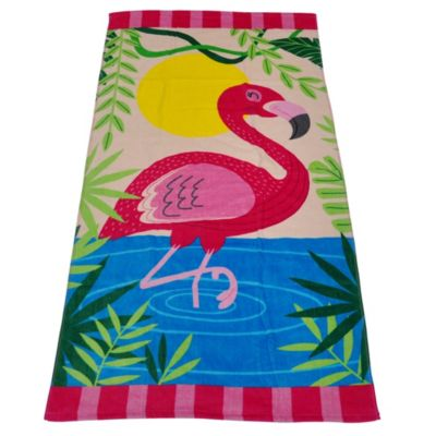 Toalla de Playa Flamingo 70x140cm