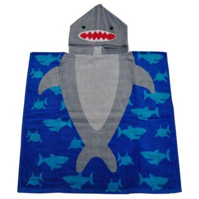 Toalla de Playa con Capucha Tiburón 60x120cm