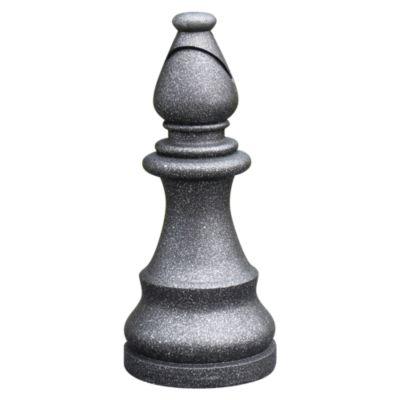 Figura Ajedrez Alfil Negro 16x36 cm