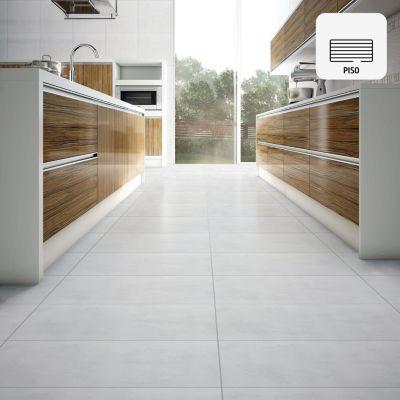 Porcelanato Cemento Mate Plata Rústico 60x60cm para piso