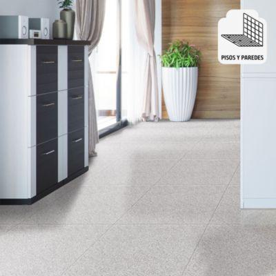 Cerámica Granite Blanco Con Relieve 45x45cm para piso o pared