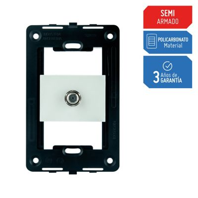 Toma Coaxial Silight Blanco