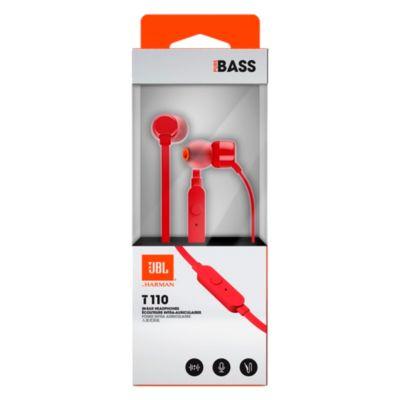 Auriculares Internos con Micro Sonido Real T110 Rojo