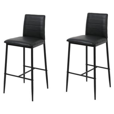 Set 2 Sillas de Bar 41x46x101cm Negro