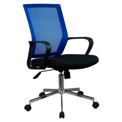 Silla de oficina con malla azul