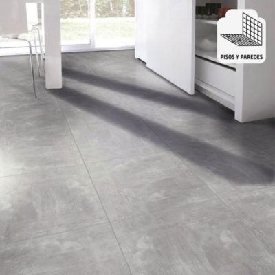 Gres Porcelanico Oxidum Aluminium Liso 60x60cm para piso o pared