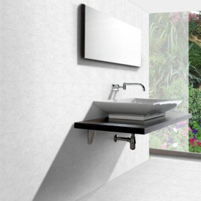 Cerámica Escenza Gris Liso 24x40cm para pared