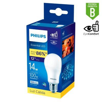 Foco LED Bulbo A65 E27 14W Luz Amarilla