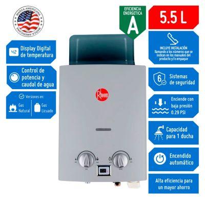 Terma a Gas GLP 5.5 L Tiro Natural