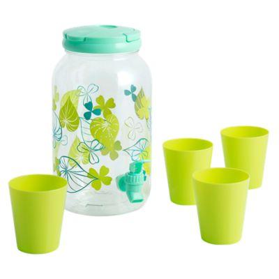 Dispensador de plástico con 4 vasos Clovers