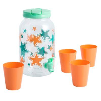 Dispensador de plástico con 4 vasos Stars