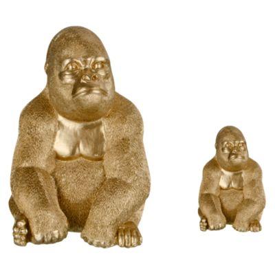 Figura Decorativa Gorila Dorado 12cm