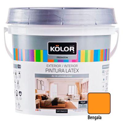 Pintura Látex Premium Satinado Bengala 4L