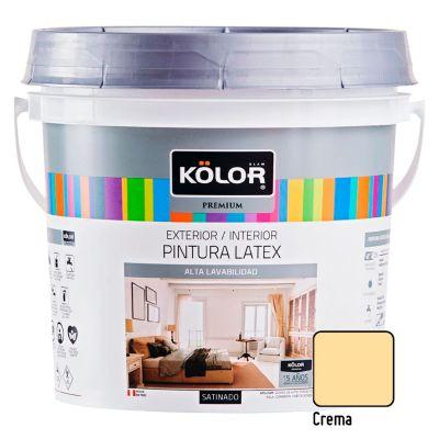 Pintura Látex Premium Satinado Crema 4L
