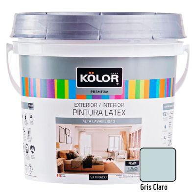 Pintura Látex Premium Satinado Gris Claro 4L