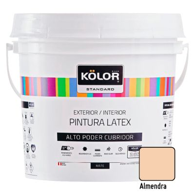 Pintura Látex Standard Mate Almendra 4L