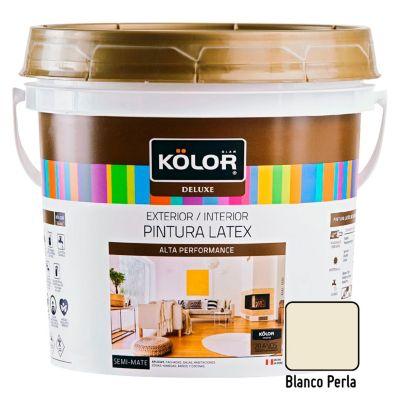 Pintura Látex Deluxe Semi Mate Blanco Perla 4L