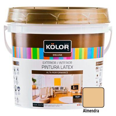 Pintura Látex Deluxe Semi Mate Almendra 4L