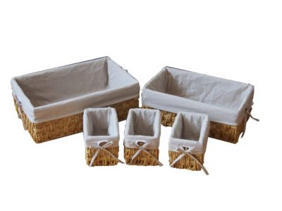 Set x5 Canastos Maize de Tela Natural