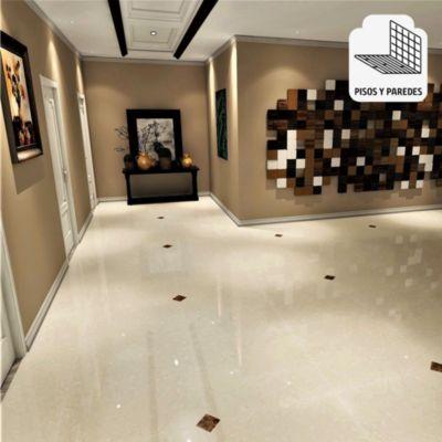 Porcelanato Beige Claro Marmolizado 60x60cm para piso o pared
