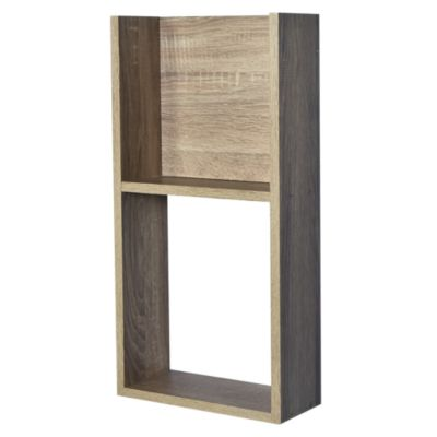 Repisa módulo madera 2 espacios