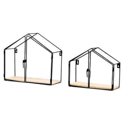 Repisa Decorativa Casa con Puerta x 2