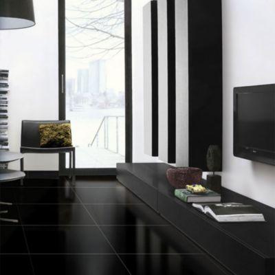 Porcelanato Negro II Calidad Liso 60x60cm para piso o pared