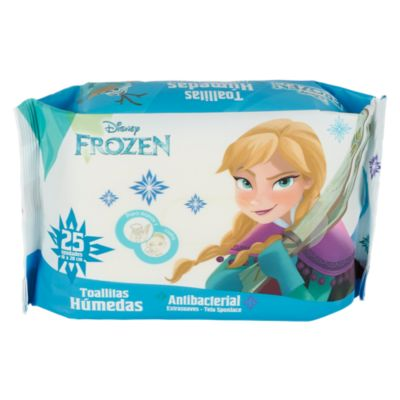 Toallas Húmedas Antibacteriales Frozen 25 Unidades