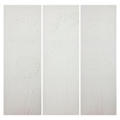Set x3 Canvas Flor Blanca 30x90cm