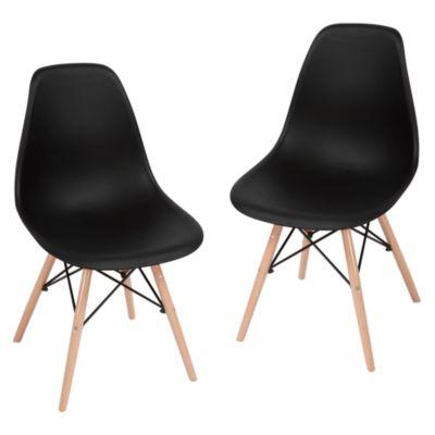 Set x2 Sillas Eames Negra