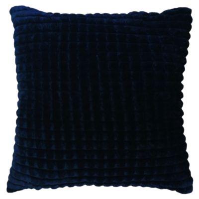 Cojín Flannel a Cuadritos Azul 45x45cm