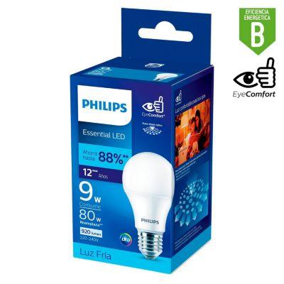 Foco LED Bulbo A60 E27 9W Luz Blanca