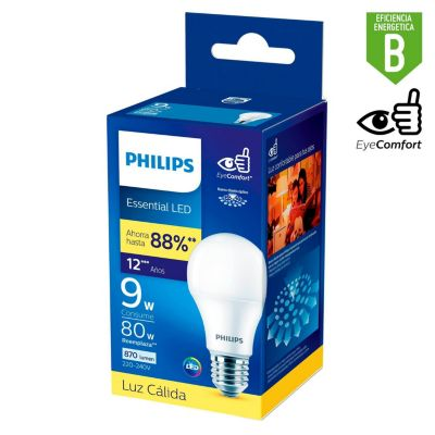 Foco LED Bulbo A60 E27 9W Luz Amarilla