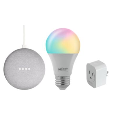 Combo Google Home Mini+ Foco Smart + Smart Plug