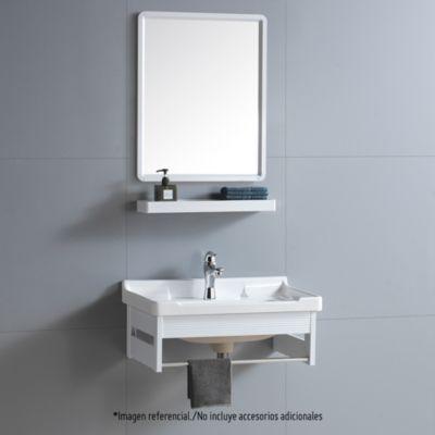 Vanitorio + Espejo + Repisa Venecia 60x40x29.5cm Blanco