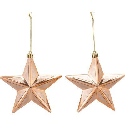 Set x2 Adornos Estrella 12cm