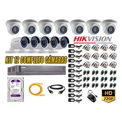 Kit 12 Cámaras de Seguridad HD 720p Disco 1TB Vigilancia + Kit de Herramientas Gratis