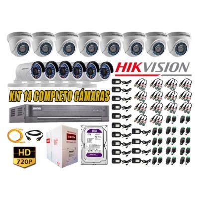 Kit 14 Cámaras de Seguridad  HD 720p Disco 1TB Vigilancia + Kit de Herramientas Gratis