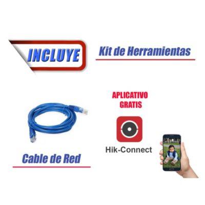 Kit 4 Cámaras de Seguridad Full HD 1080p DISCO 1TB Vigilancia + Kit de Herramientas Gratis