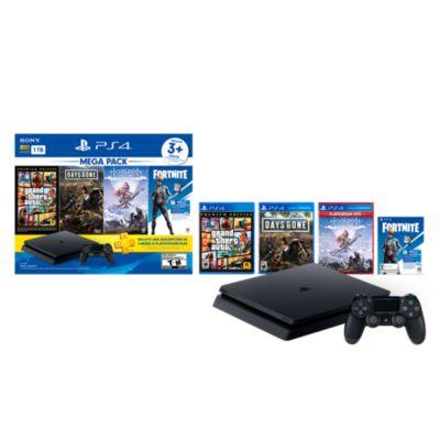 Mega Pack Consola PS4 Slim 1TB + Mando + 3 Juegos + Suscripción 3 Meses