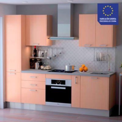 Mueble de Cocina Modular Laminado DPL 244 cm Roble Claro