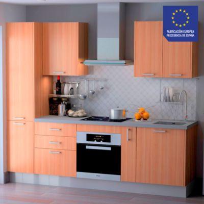 Mueble de Cocina Modular Laminado DPL 244 cm Cerezo