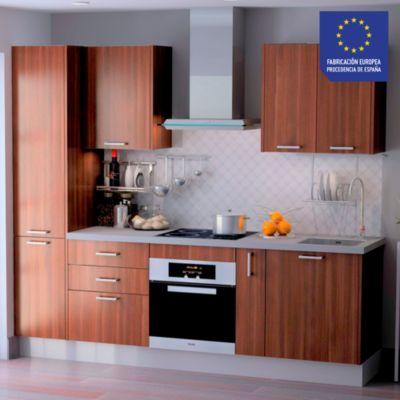 Mueble de Cocina Modular Laminado DPL 244 cm Wengue