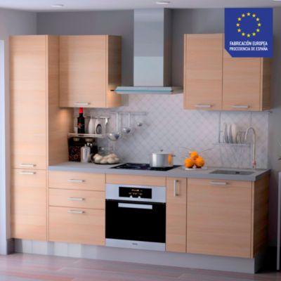 Mueble de Cocina Modular Laminado DPL 244 cm Tabaco