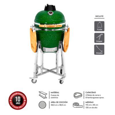 Kamado Junior Verde y accesorios