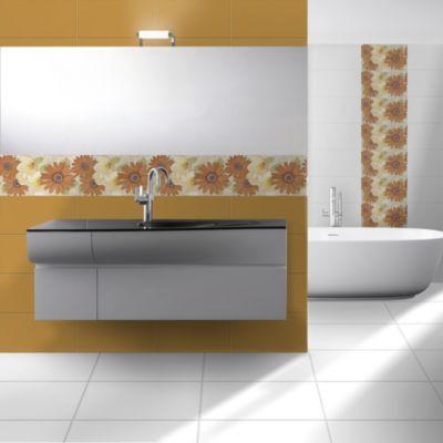 Cerámica Deco Art Orange Liso 27x45cm para pared