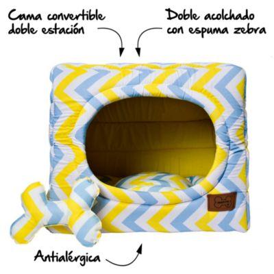 Cama Cubo Convertible 2 en 1 Amarillo - Talla M